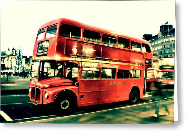 Double Decker Greeting Cards - Routemaster retro pop art  Greeting Card by Jasna Buncic