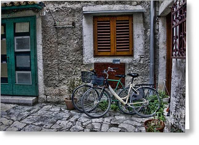 Crystal Nederman Greeting Cards - Rovinj Bicycles Greeting Card by Crystal Nederman