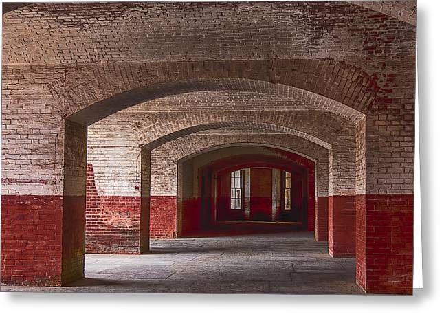 Glass Wall Photographs Greeting Cards - Row of arches Greeting Card by Garry Gay
