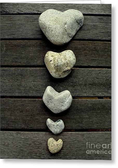 Lainie Wrightson Greeting Cards - Row of Hearts Greeting Card by Lainie Wrightson