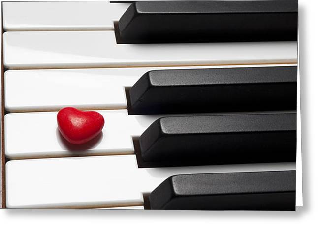 Row of piano keys Greeting Card by Garry Gay