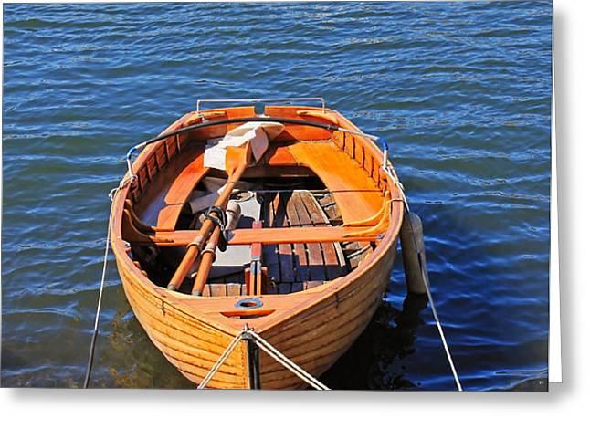 rowboat Greeting Card by Joana Kruse