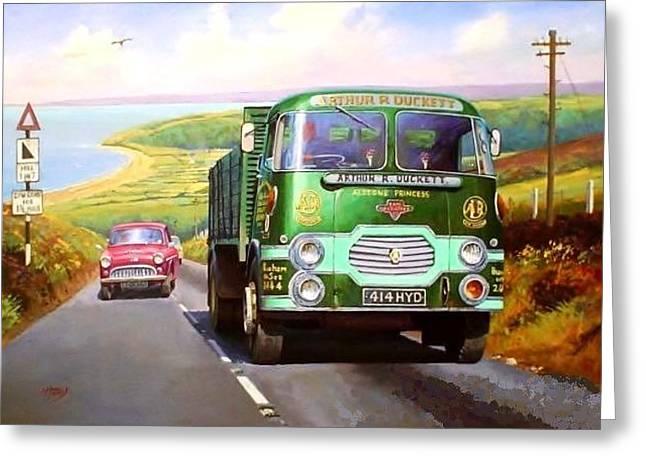 Lorries Greeting Cards - Rowe Hillmaster Greeting Card by Mike  Jeffries