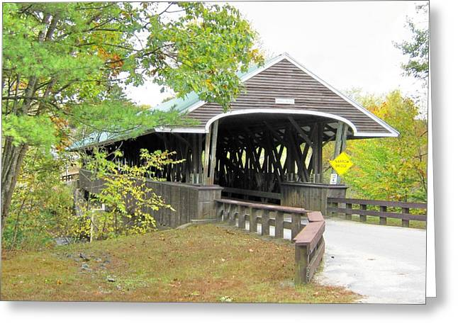 Covered Bridge Greeting Cards - Rowell Covered Bridge Greeting Card by Wayne Toutaint
