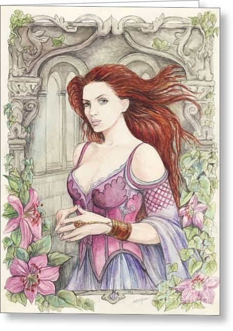 Fantasy Creature Greeting Cards - Rowen Greeting Card by Morgan Fitzsimons
