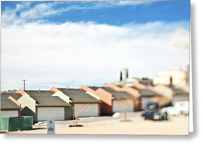 City Of San Clemente Greeting Cards - Rows of Duplex Garages Greeting Card by Eddy Joaquim