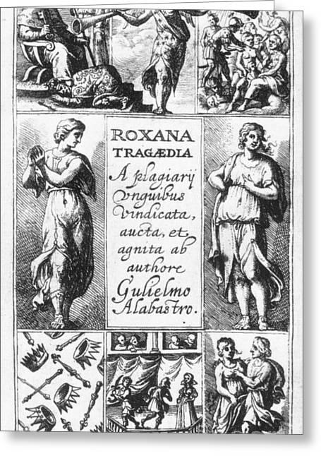 Roxana Tragaedia, 1632 Greeting Card by Granger