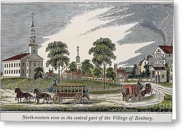 Roxbury Greeting Cards - Roxbury, Massachusetts Greeting Card by Granger