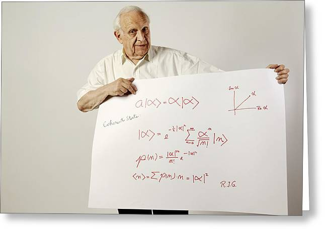 Surname G Greeting Cards - Roy Glauber, Us Physicist Greeting Card by Volker Steger