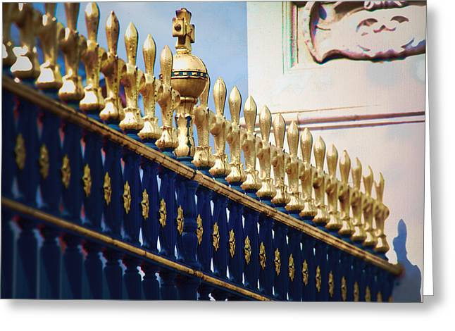 Royal Art Greeting Cards - Royal Fence Greeting Card by David Waldo