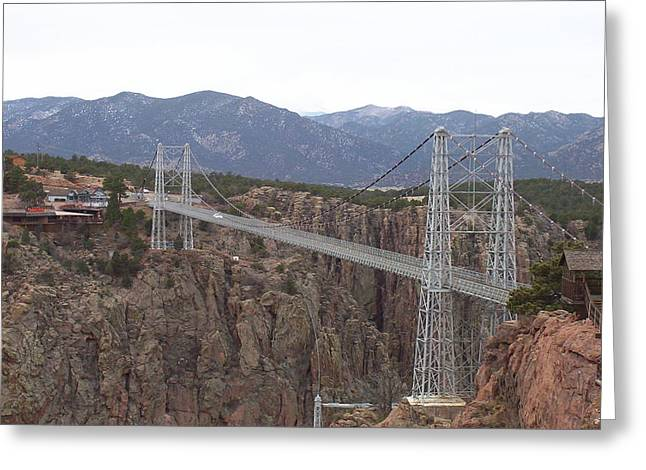 Royal Gorge Bridge Greeting Cards - Royal Gorge Bridge Greeting Card by Caryn Schulenberg