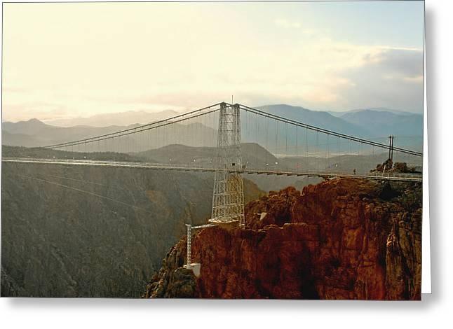 Royal Gorge Bridge Colorado - Take a walk across the sky Greeting Card by Christine Till