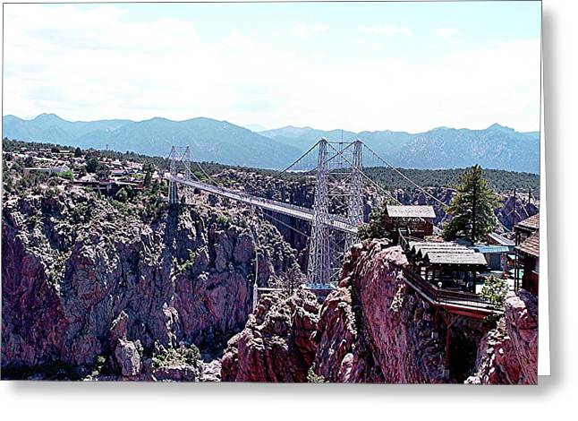 Royal Gorge Greeting Cards - Royal Gorge overlook Greeting Card by Barkley Simpson