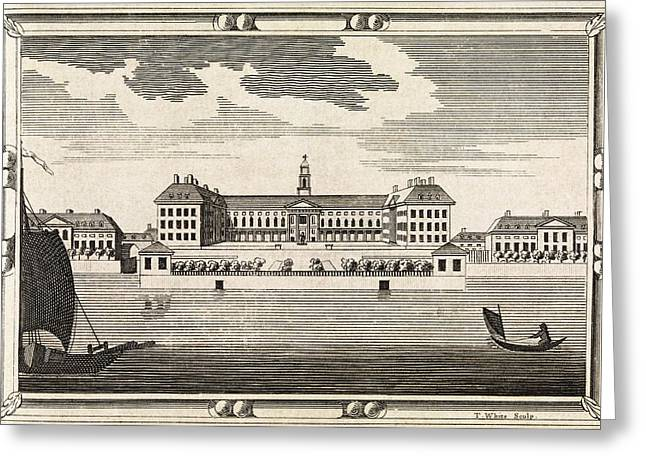 Serviceman Greeting Cards - Royal Hospital Chelsea, 18th Century Greeting Card by Middle Temple Library
