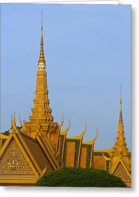 Royal Palace Roof. Greeting Card by David Freuthal