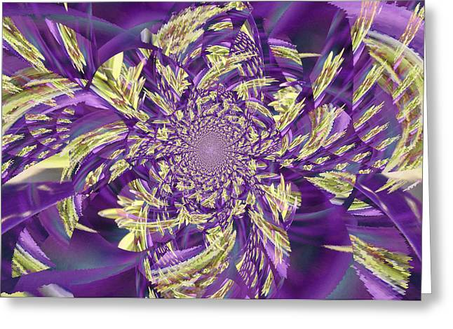 Book Cover Art Greeting Cards - Royal Purple  Greeting Card by Rose  Hill