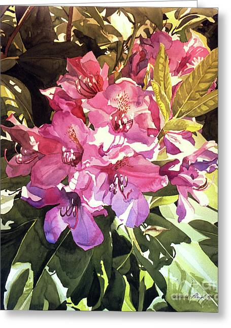 Royal Rhododendron Greeting Card by David Lloyd Glover
