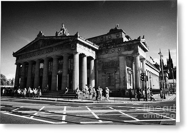 Royal Art Greeting Cards - Royal Scottish Academy Of Art And Architecture Edinburgh Scotland Uk United Kingdom Greeting Card by Joe Fox