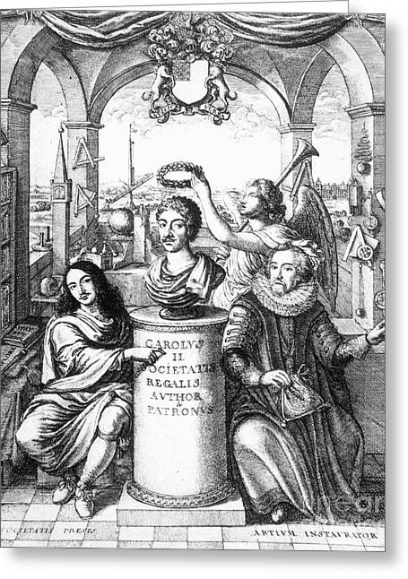 Royal Society Greeting Cards - Royal Society, 1667 Greeting Card by Granger