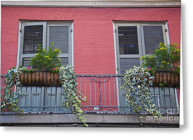 Leda Photography Greeting Cards - Royal Street Balcony Greeting Card by Leslie Leda