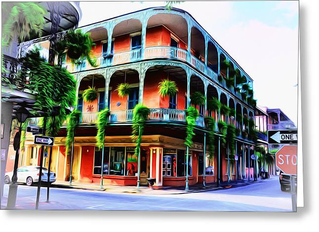 Royal Street Greeting Cards - Royal Street - New Orleans Greeting Card by Bill Cannon