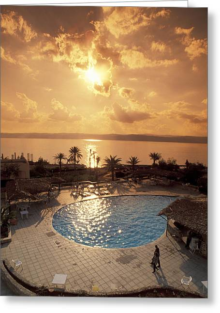 Dead Sea Greeting Cards - Royal Suite In The Dead Sea Spa Hotel Greeting Card by Richard Nowitz