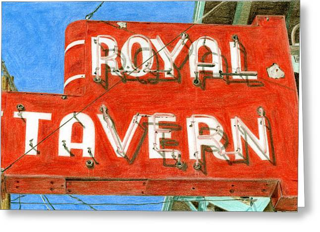 Photorealism Greeting Cards - Royal Tavern Greeting Card by Rob De Vries