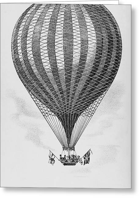 Royal Art Greeting Cards - Royal Vauxhall Balloon Greeting Card by Science, Industry & Business Librarynew York Public Library