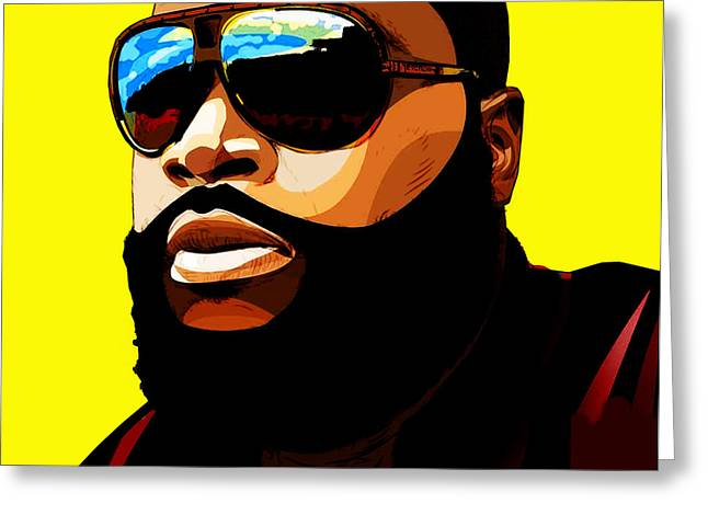 Hiphop Greeting Cards - Rozay Greeting Card by The DigArtisT