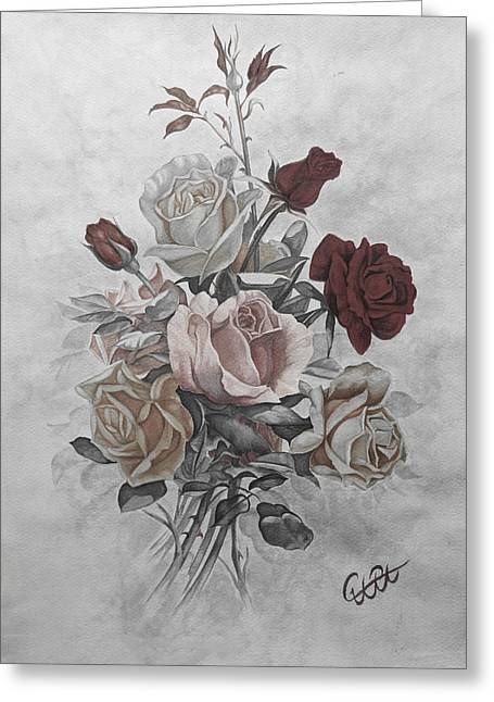 Roze Greeting Cards - Roze2 Greeting Card by Samira Abbaszadeh charandabi