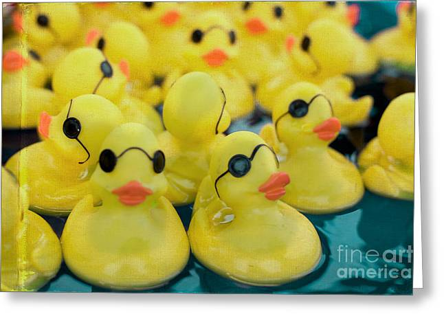 Rubber Duck Greeting Cards - Rubber Ducks Greeting Card by Kim Fearheiley