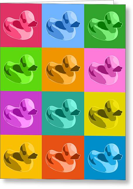 Warhol Greeting Cards - Rubber Ducks Greeting Card by Michael Tompsett