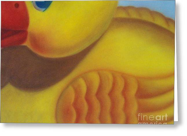 Baby Room Pastels Greeting Cards - Rubber Ducky Greeting Card by Emily Young
