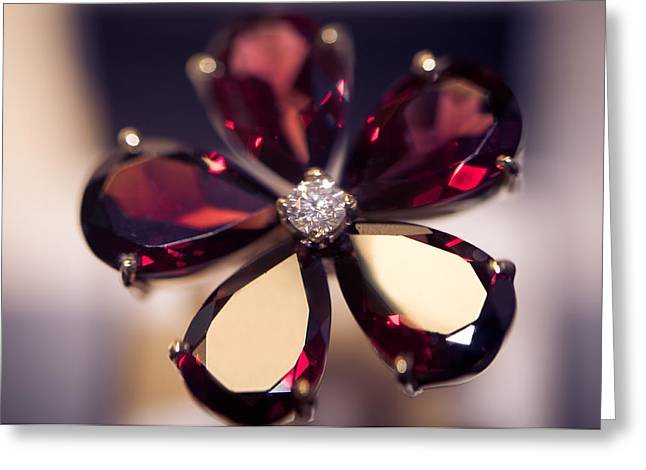Jewelers Greeting Cards - Ruby Ring I. Spirit of Treasure Greeting Card by Jenny Rainbow