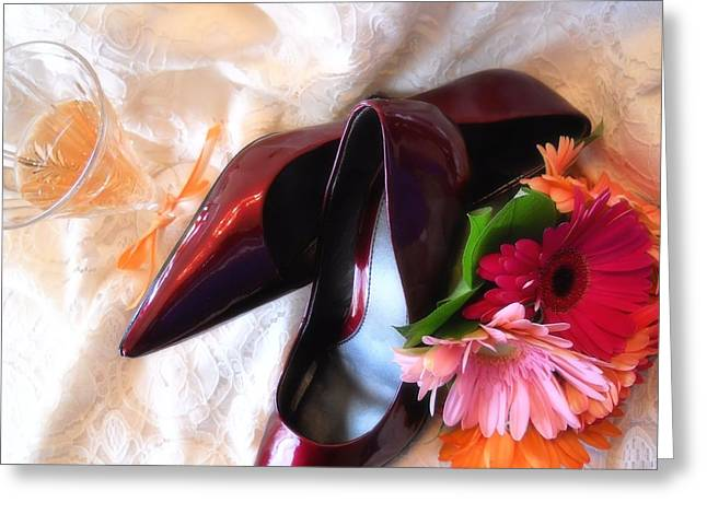 Lynnette Johns Greeting Cards - Ruby Slippers Greeting Card by Lynnette Johns