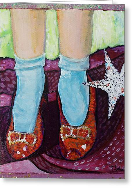 Ruby Greeting Cards - Ruby Slippers Greeting Card by Tanya Johnston