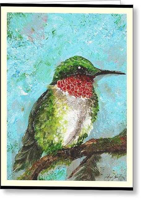 Hornbill Paintings Greeting Cards - Ruby Greeting Card by Sydney Gregory