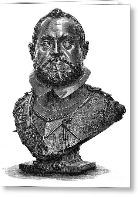 Statue Portrait Photographs Greeting Cards - Rudolf Ii (1552-1612) Greeting Card by Granger