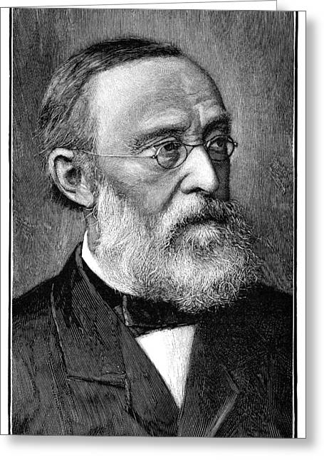 Rudolf Greeting Cards - Rudolf Virchow, German Pathologist Greeting Card by