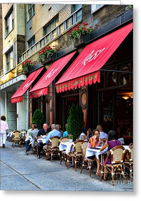 Table Wine Greeting Cards - Rue 57 NYC Greeting Card by Paul Ward