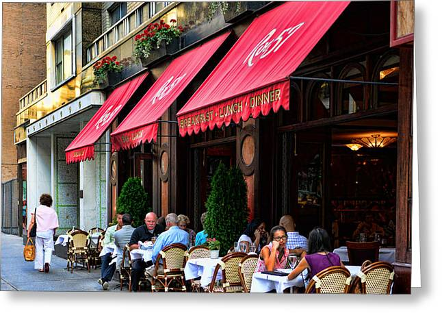 Rue 57 NYC Greeting Card by Paul Ward
