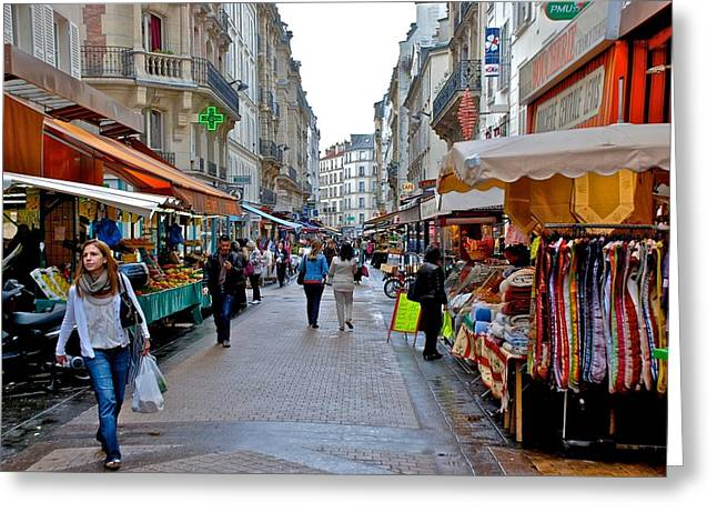 Levis Greeting Cards - Rue Levis Market Greeting Card by Eric Tressler