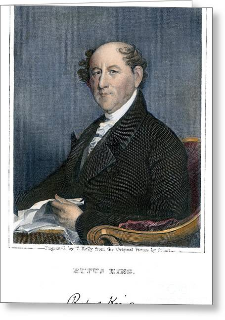 Autograph Greeting Cards - Rufus King (1755-1827) Greeting Card by Granger