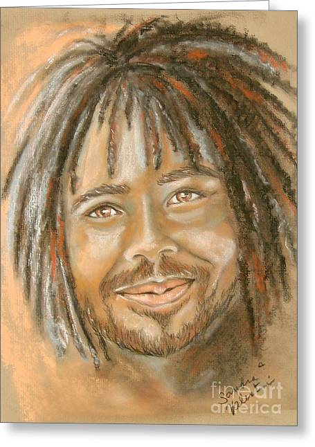 African-american Pastels Greeting Cards - Rufus Greeting Card by Sandra Valentini