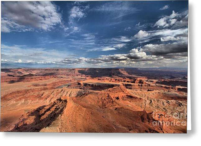 Dead Horse Point Greeting Cards - Rugged Landscape Greeting Card by Adam Jewell