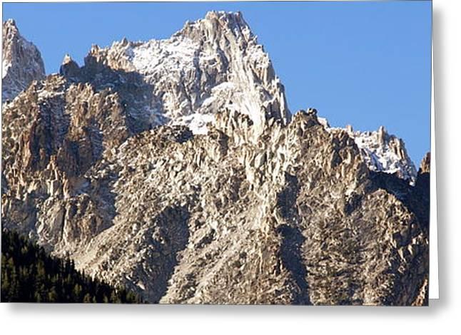 Ragged Peaks Greeting Cards - Rugged Mountain Peaks Greeting Card by Jeff Lowe