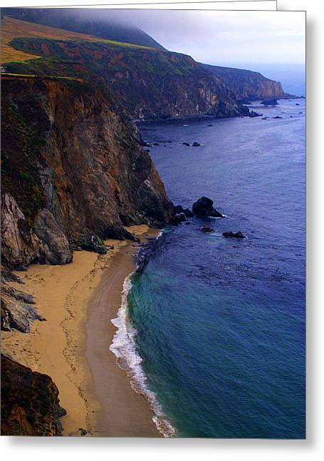 Big Sur Greeting Cards - Rugged Shoreline Greeting Card by Ron Regalado