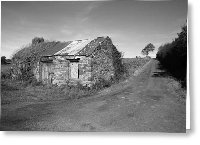 Irish Farm Greeting Cards - Ruined Irish Cottage Greeting Card by John Quinn