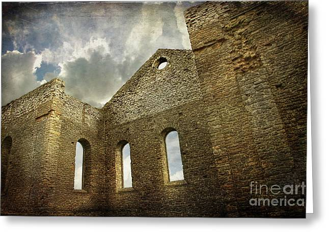 Interior Scene Photographs Greeting Cards - Ruins of a church in Ontario Greeting Card by Sandra Cunningham