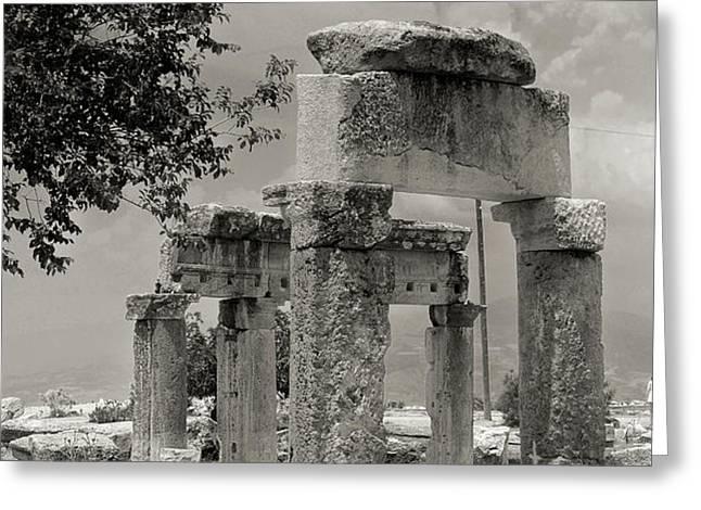 Ruins of Hierapolis Greeting Card by Waldek Dabrowski